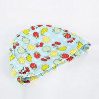 儿童针织泳帽可爱水果花男女童弹力舒适海豚布帽宝宝游泳帽