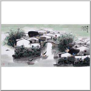 天津市美协、书协会员梁红先《春和景明》