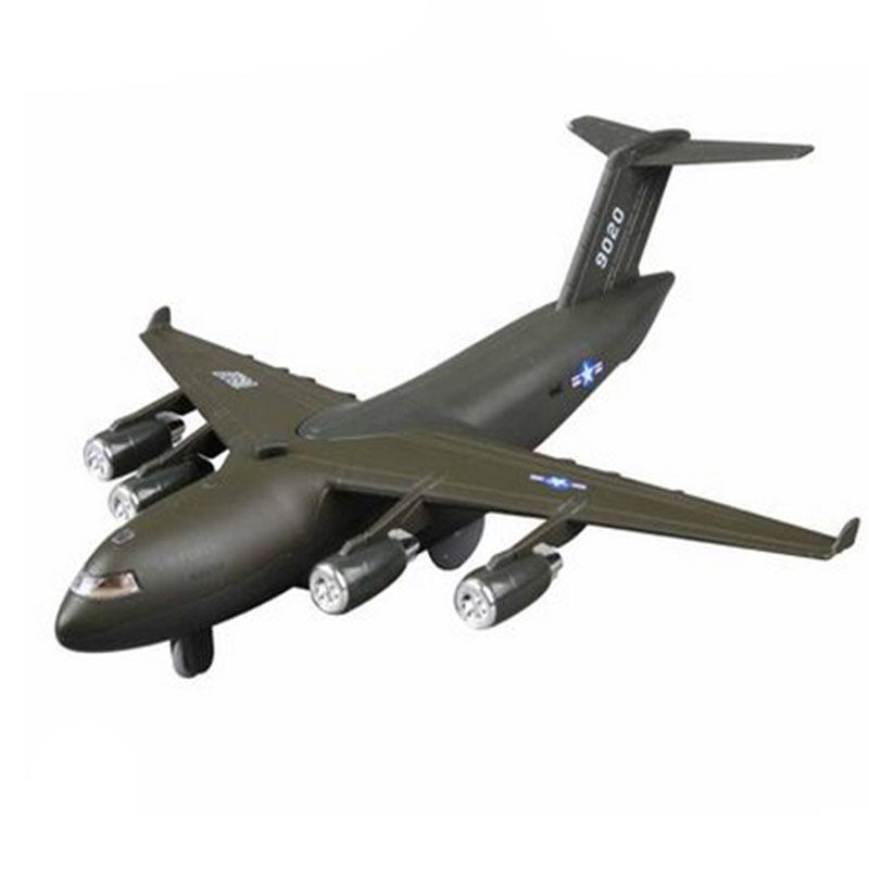 光回力合金儿童飞机模型