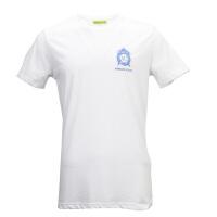 VERSACE JEANS白色纯棉经典logo图案男士短袖T恤