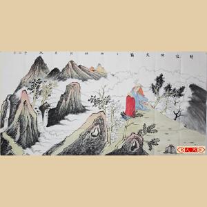 《静寂问天籁》石宏敬,广西师范美术系国画专业,广西美术家协会会员【编号】W1484