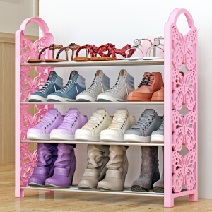 亚思特铁艺简易鞋架 多层收纳鞋柜简约经济型组装防尘鞋架子XJH164