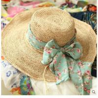 女士拉菲 草小辣椒 帽子女帽大沿 沙滩草帽 防晒防紫外线