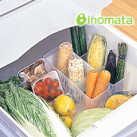 日本进口正品 冰箱冷藏室蔬菜篮分隔收纳筐蔬果分格收纳盒
