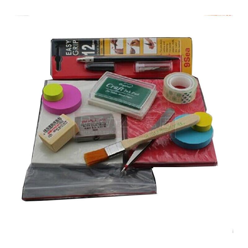 雕刻橡皮砖 初学者套装 新手工具/送教程/图案/入门套装橡皮砖材料包