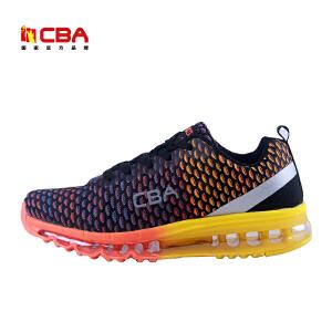 CBA男子跑鞋 正品炫彩飞织运动鞋跑步鞋男士潮鞋青少年气垫跑步鞋