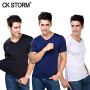 CK STORM 男士T恤商场同款 3件礼盒装酷爽冰丝一片式无痕圆领短袖户外速干运动衫