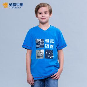 男童短袖t恤儿童半袖打底衫中大童V领上衣2017夏装童装纯棉上衣潮