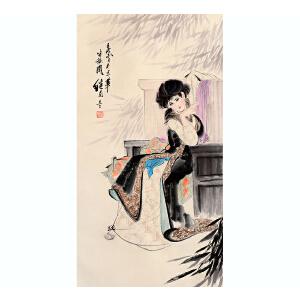 刘继卣《人物》纸本立轴