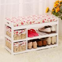 亿家达换鞋凳储物沙发凳 凳子时尚创意简约现代实木鞋凳式鞋柜