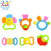 汇乐婴儿玩具0-1岁新生儿牙胶儿童早教益智摇铃组合安抚12只礼盒