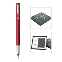 【当当自营】PARKER 派克威雅红色胶杆墨水笔/笔记本礼盒