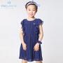 派克兰帝品牌童装 女童夏装时尚波点雪纺连衣裙  儿童裙子