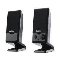 【当当自营】EDIFIER漫步者 R10U多媒体2.0电脑小音箱USB便携黑色
