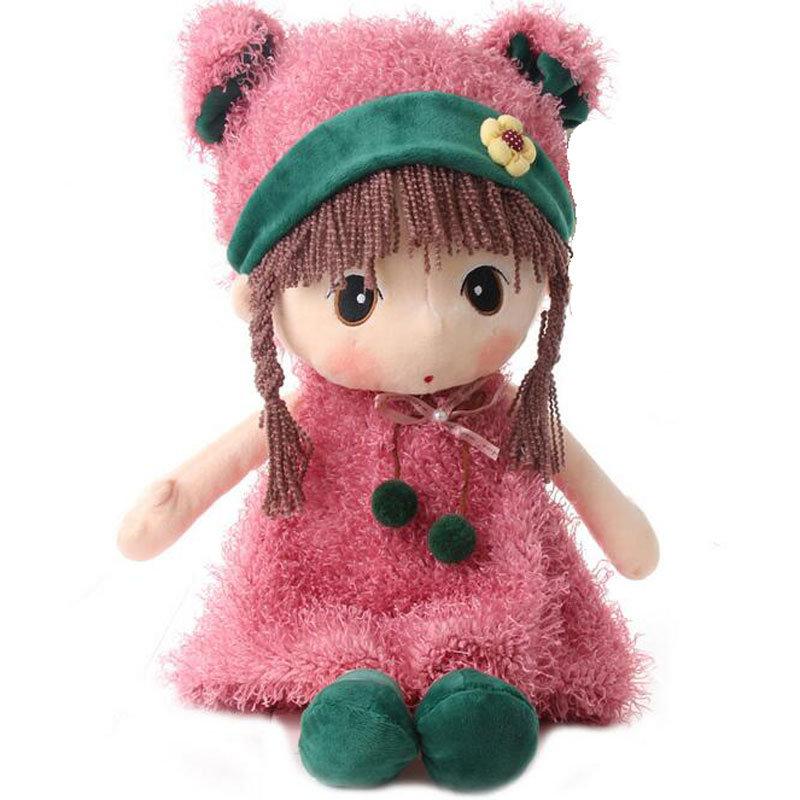 凯弘 卡通菲儿布娃娃 可爱洋娃娃 毛绒公仔 布偶小女孩玩具 皮草菲儿