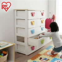 爱丽思IRIS 儿童彩色收纳柜抽屉柜整理柜宽型柜子环保塑料MHG-725