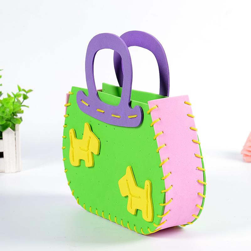 孩派eva儿童手工制作材料 diy手工材料幼儿 k1-10包包 手工包_10-小马