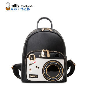 Miffy米菲 2016新款时尚双肩包女韩版潮流相机包学院风背包包潮
