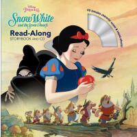 英文原版 白雪公主与七个小矮人 书 CD Snow White and the Seven Dwarfs (Read-Along Storybook and CD)迪士尼系列有声读物