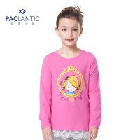 派克兰帝品牌童装 春秋女童故事系列圆领中长款长袖T恤