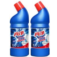 亮净洁厕清洁剂1Lx2 马桶除臭  厕所清洁去污 挂壁性好 气味清新 光亮型/清香型*发