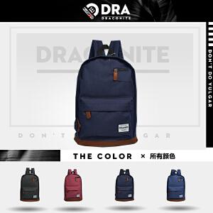 【支持礼品卡支付】DRACONITE复古英伦风潮牌男女学生书包情侣电脑背包双肩包11611