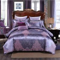 优雅100 贡缎丝棉提花四件套1.8m床上用品 1.5m欧式纯棉床单高贵被套