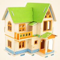 若态3D成人立体拼图diy手工拼装玩具房子模型别墅木质拼图1000