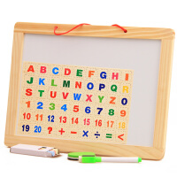 儿童双面白板画板 挂式写字板益智学习绘画磁性小黑板玩具1-3-6岁