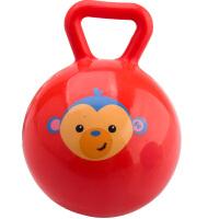费雪儿童4寸手柄球摇铃球婴儿智力玩具宝宝手抓球皮球0岁以上F0517