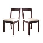择木宜居 实木餐椅 泰国橡木餐椅两张装