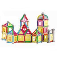 科博 磁力棒儿童早教益智玩具 拼插建构玩具 智力开发玩具 磁力玩具 礼物 318件桶