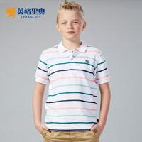 英格里奥2016童装夏装新款男童短袖T恤衫POLO衫LLB9436