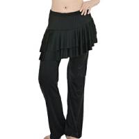 广场舞服装裙裤拉丁舞下装大码女舞蹈裤舞蹈练习练功裤子
