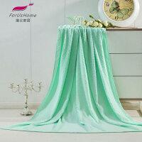 [当当自营]维众提花毛巾被 毯子单人菱形绿145*200cm