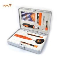 德国圣德保罗 SD-021 豪华家用维修五金工具套装 五金工具箱 28件