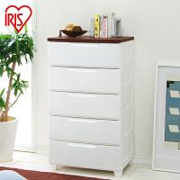 爱丽思IRIS 五层环保收纳柜抽屉柜整理柜封闭式树脂MG-555