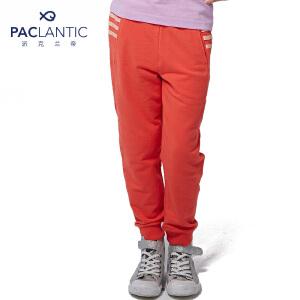 派克兰帝 女童时尚织带运动长裤