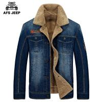 2016冬装棉衣男士牛仔 棉服男加绒加厚保暖外套潮