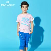 派克兰帝品牌童装 男童夏装 针织运动哈伦七分裤 儿童短裤分裤