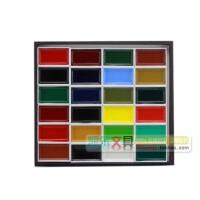 日本进口吉祥颜彩24色套装 固体高级国画颜料 固体水彩颜料