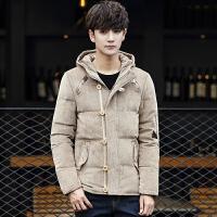 2016冬季男装羽绒服 韩版男士修身羽绒外套潮男休闲连帽大码上衣