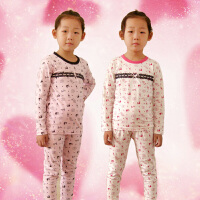 新款芭比公主儿童纯棉莱卡高弹力宝宝内衣裤套装秋衣睡衣