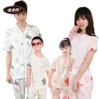金丰田夏季短袖卡通亲子装儿童节 礼品家居服套装 1376