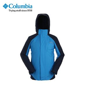 【领卷满400减100】Columbia/哥伦比亚户外防水透气男士三合一冲锋衣PM7789