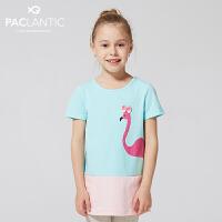 派克兰帝品牌童装  夏装女童时尚拼接连衣裙 儿童连衣裙