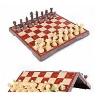 友邦中号仿木制国际象棋西洋棋二合一磁性棋 折叠棋盘带立体棋子 4856C