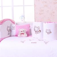 小硕士正品婴儿床床品八件套纯棉宝宝床品套件bb床上用品