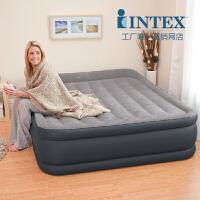 正品INTEX67736/38双人加大加宽加厚双层充气床垫气垫床
