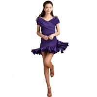 短袖女广场舞服装拉丁舞摩登舞套装夏秋跳舞服显瘦裙子